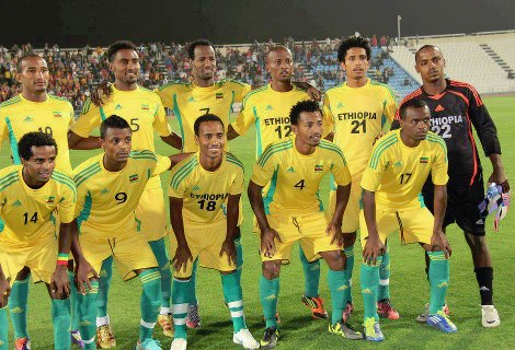 Ethiopian National Team (Photo: http://www.facebook.com/groups/254199647991428/?fref=ts)