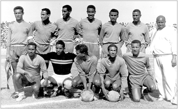 The winning Ethiopian team (Tekle Kidane is not in the picture)