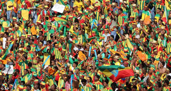 What a following! Ethiopians came in their numbers to the Mbombela Stadium (Photo: Reuters)