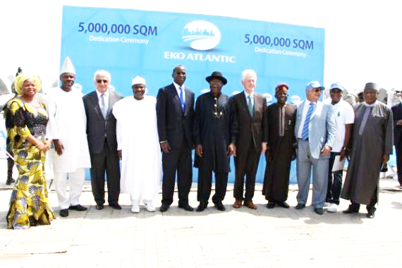Opening ceremony of the first phase of the Eko Atlantic City (Photo: http://news.naij.com)