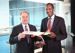 James Hogan, Etihad Airways President and CEO and Dr. Titus Naikuni, MD & CEO, Kenya Airways (Photo: BreakingTravelNews.com)