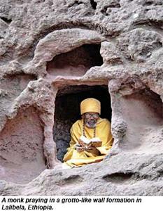 Monk Praying in Lalibela