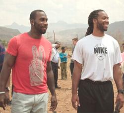 Boldwin & Fitzgerald in EThiopia (Photo: Oxfam America)