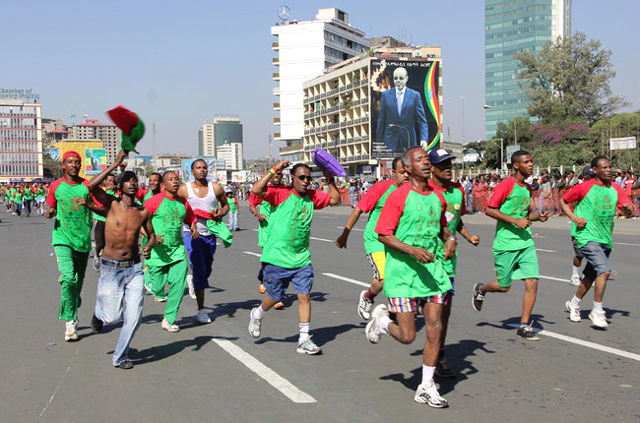 The Great Ethiopian Run drew about 36,000 participants in November. New training centers and a new marathon could help attract top international runners.(Photo: Benno Muchler)
