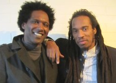 Lemn Sissay (left) and Benjamin Zephaniah have been friends since performing together in the 1980s (Photo: BBC)