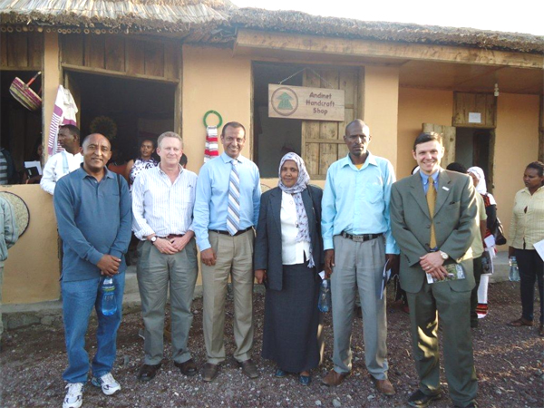 (L-R) Ato Sisay Getachew, Tim Ogborn (Senior Vice President, Counterpart International), Bedilu Shegen, The Honorable Wezero Fetiya Yusouf, Abu Jarso (Batu City Tourism and Culture Head), Cullen Hughes (Photo: US Embassy in Addis Ababa)