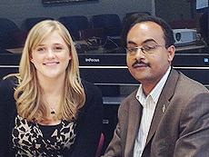 Hannah Olson and Dr. Kesetebirhan Admasu (Photo: Courtesy of Johns Hopkins University)
