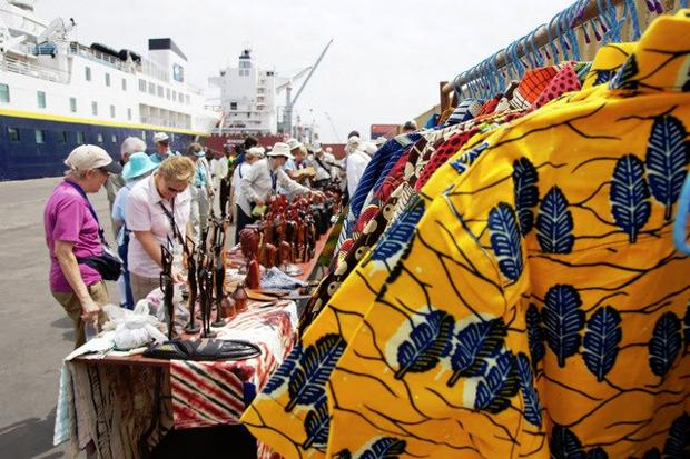 Tourists in Monrovia, Liberia (Photo: Courtesy of barefootsafari.com)