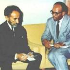 Ketema Yifru and Emperor Haile Selassie (Photo: www.oau-creation.com )