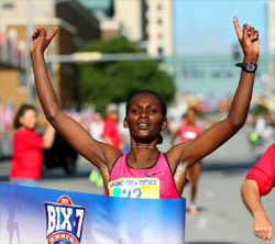 A 1-2 finish for Ethiopian Athletes in Bix 7 women's race