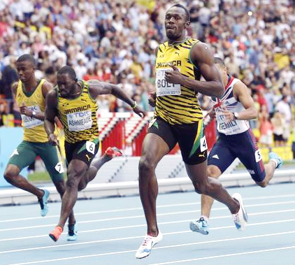 Usain Bolt wins gold in 200