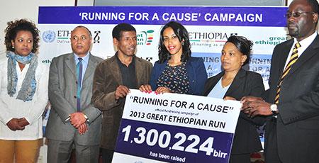Great Ethiopian Run donates 1.3 million birr to charity
