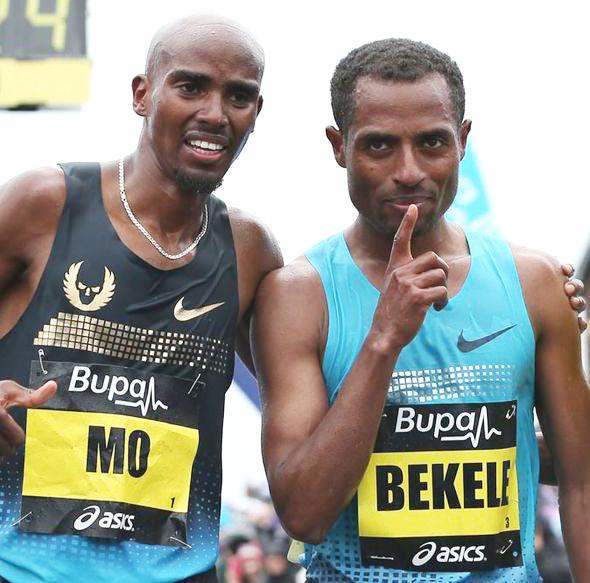 Kenenisa and Mo (Photo:express.co.uk )