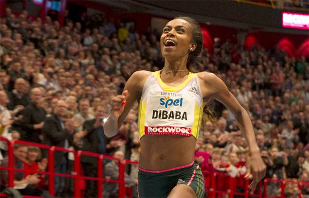 Genzebe Dibaba breaks world indoor 3,000m record in Stockholm