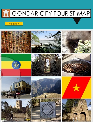 Gondar City Tourist Map (Credit: http://www.cartography.org.uk/)