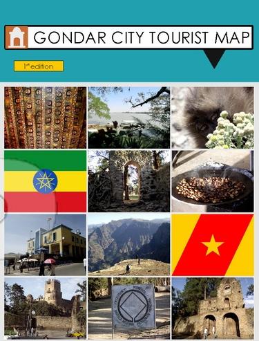 Gondar City Tourist Map (Credit: http://www.cartography.org.uk/)