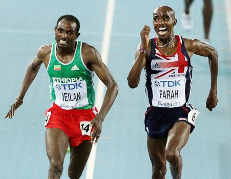 Ibrahim Jeilan and Mo farah