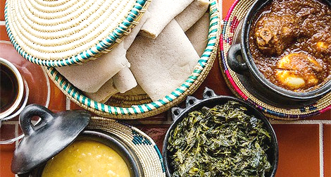 Cuisine from Taste of Ethiopia (Image credit: PHOTO BY MARK CHAMBERLIN)