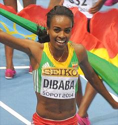 Genzebe Dibaba (Photo credit: Yomi Omogbeja)