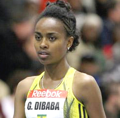 Genzebe Dibaba wins Gold in 3,000m