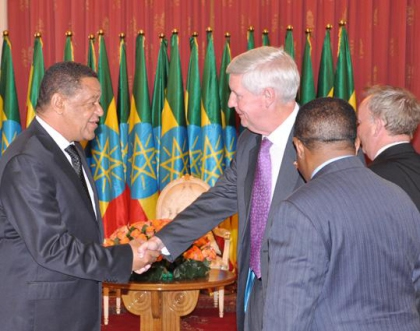 President Mulatu Teshome (left) and Mr. Mark Green