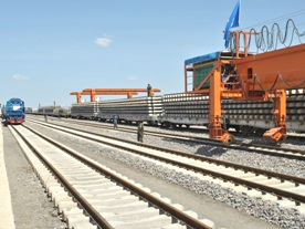 Track laying commences on section of Ethio-Djibouti Railway