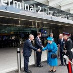 Britain's Queen Elizabeth II Formally Opens Heathrow Terminal 2