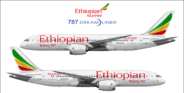 Ethiopian Airlines Boeing 787-860 Dreamliner  (Photo: Boeing.com) -