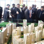 President Mulatu inspecting the new urban complex project (Photo: Teh Reporter)