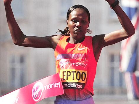 Defending champion Priscah Jeptoo  of Kenya