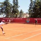 Imitating Nadal, Federer