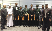 Ethiopian Airlines crew upon arrival in Doha, Qatar (Photo: Courtesy of Ethiopian Airlines)