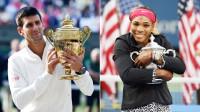 Novak Djokovic and Serena Williams (Photo: Paul Zimmer) -