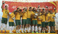 Australia celebrate winning their first ever Asian Cup trophy (Photo: Sport360.com) -