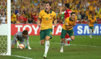 James Troisi runs in jubilation after scoring the winning goal in extra time against South Korea (Photo: Sport360.com)) -