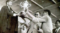 Team captain Luciano Vassalo receiving the cup from H.I.M. Haile Selassie (Photo: Bezabeh Abetew) -