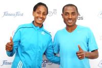 Aselefech Mergia and Kenenisa Bekele (Photo: Giancarlo Colombo)
