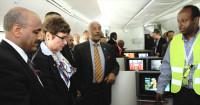 Ethiopian CEO Tewolde Gebremariam (left), US Ambassador (center) and Solomon Assefa, CEO of Ethio Tourism