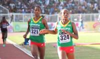 Dawit Seyaum leads an Ethiopian 1-2 at the 1,500m race (Photo: Bizuayehu Wagaw) -