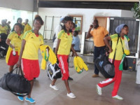 The Ethiopian team arriving at Douala Airport