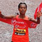 London Marathon: Ethiopia's Tigist Tufa ends Kenya's four-year domination