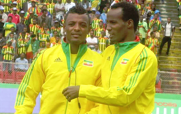 Striking partners Getaneh Kebede (left) and team captain Salhadin Said