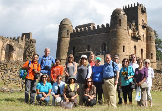 Tourists visiting Gondar Castle (Photo: .visitethiopia.com.et) -