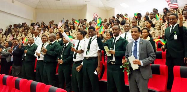 Ethiopian Airlines staff celebrate during the signing ceremony. - See more at: http://www.ustda.gov/news/pressreleases/2015/SubSaharanAfrica/Ethiopia/PR_072915/PR-USTDA-Provides-Training-Grant-to-Ethiopian-Airlines_072915.asp#sthash.nDjmQKKL.dpuf (Credit: USTDA.gov)