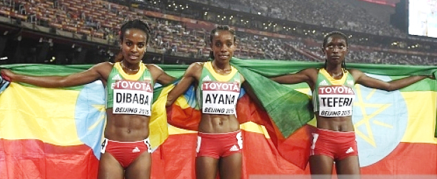 Genzebe Dibaba, almaz Ayana and Senbere Teferi (Photo: Getty Images)