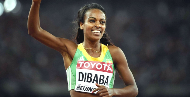 Genzebe Dibaba of Ethiopia won the gold medal in the 1500m in Beijing (Photo: AFP)