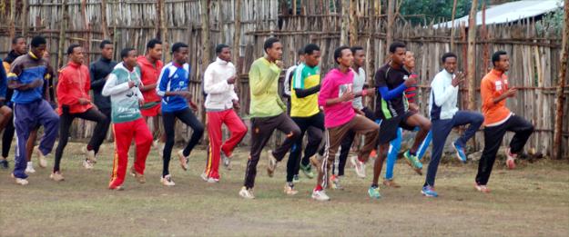 The next generation of Olympic stars perfect their running form in Bekoji (credit: Elizabeth Egan)
