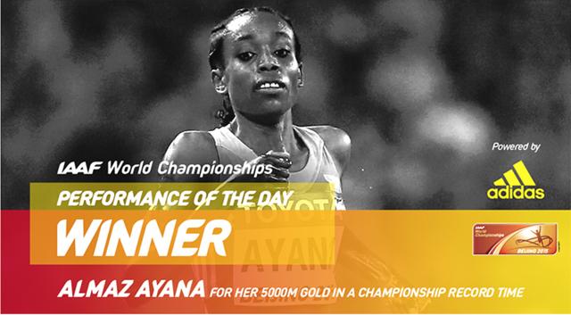 Almaz Ayana Adidas Award
