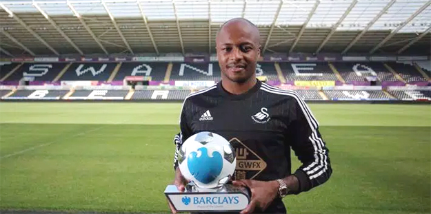 Ayew scored on his Premier League debut against Chelsea