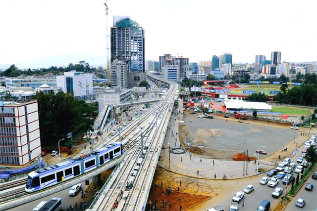 The new Addis Ababa Light Rail Service